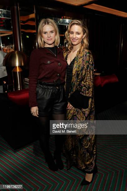Alice Eve and Dianna Agron attend the Platform Presents Poetry Gala 2020 after party in the Dragon Room at Isabel Mayfair on February 9 2020 in...