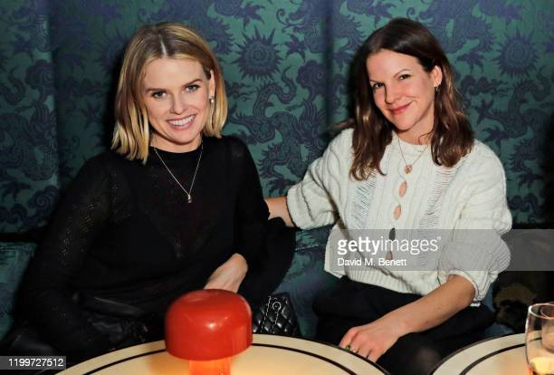 Alice Eve and Fuchsia Kate Sumner attend the Platform Presents Poetry Gala 2020 after party in the Dragon Room at Isabel Mayfair on February 9 2020...