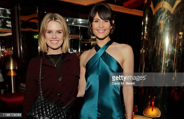 Alice Eve and Gemma Arterton attend the Platform Presents Poetry Gala 2020 after party in the Dragon Room at Isabel Mayfair on February 9 2020 in...