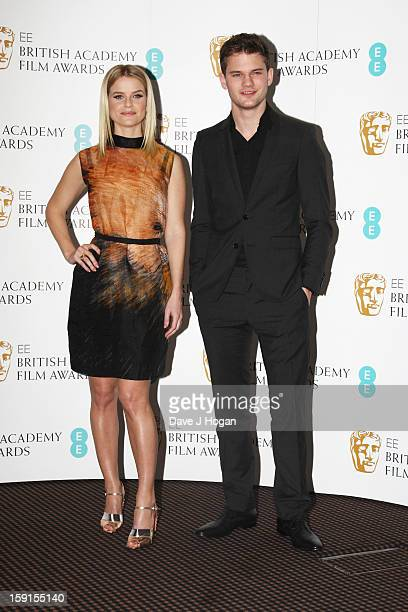 Alice Eve and Jeremy Irvine attend The EE British Academy Film Awards nominations announcement at at BAFTA on January 9 2013 in London England