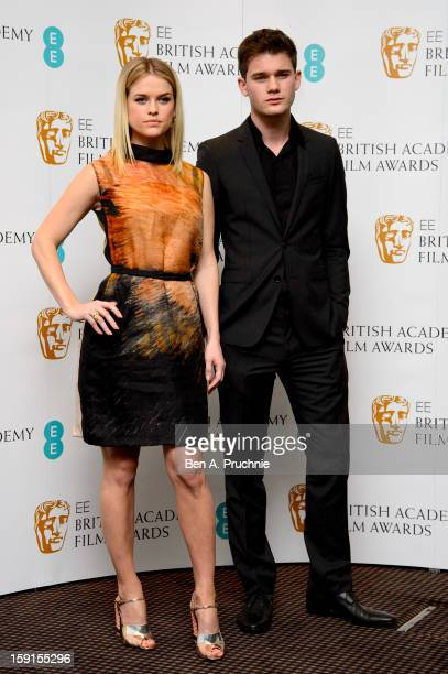 Alice Eve and Jeremy Irvine attends The EE British Academy Film Awards nominations announcement at BAFTA on January 9 2013 in London England