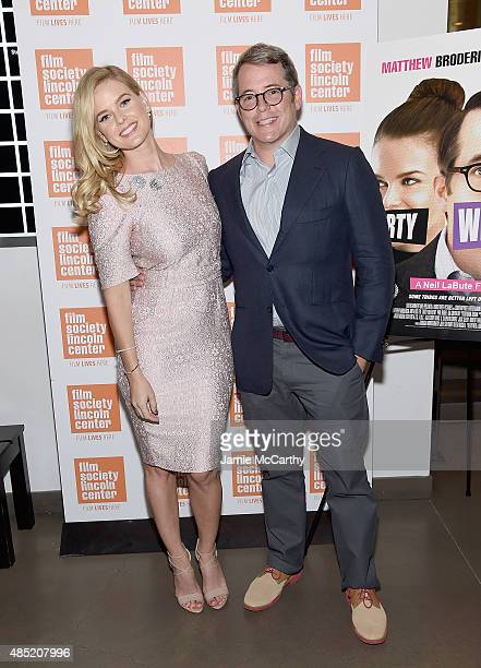 Alice Eve and Matthew Broderick attend the 2015 Film Society Of Lincoln Center Summer Talks With Dirty Weekend at Elinor Bunin Munroe Film Center on...
