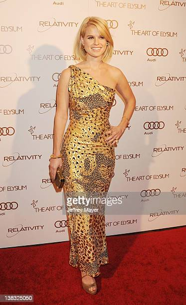 Alice Eve arrives at Art Of Elysium's 5th Annual Heaven Gala at Union Station on January 14 2012 in Los Angeles California
