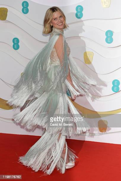 Alice Eve arrives at the EE British Academy Film Awards 2020 at Royal Albert Hall on February 2 2020 in London England