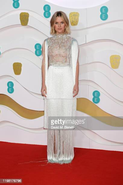 Alice Eve arrives at the EE British Academy Film Awards 2020 at Royal Albert Hall on February 2, 2020 in London, England.