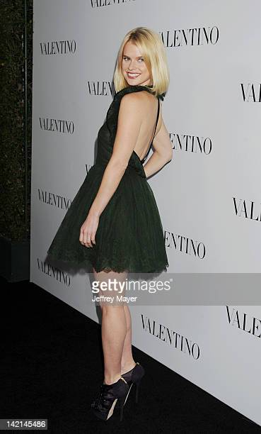 Alice Eve arrives at the Valentino 50th Anniversary And New Flagship Store Opening On Rodeo Drive at Valentino Boutique on March 27, 2012 in Beverly...