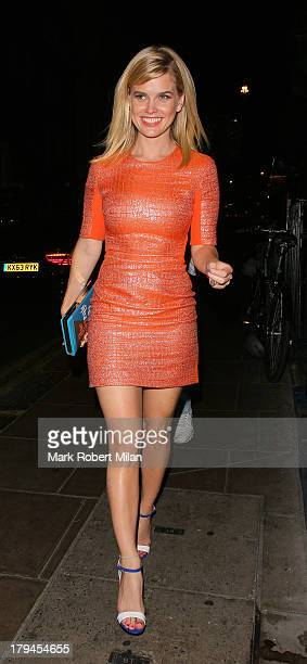 Alice Eve at the Groucho club on September 3 2013 in London England