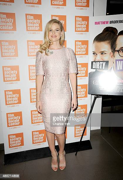 Alice Eve attends 2015 Film Society Of Lincoln Center Summer Talks with Dirty Weekend at Elinor Bunin Munroe Film Center on August 25 2015 in New...