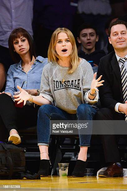 Alice Eve attends a basketball game between the Memphis Grizzlies and the Los Angeles Lakers at Staples Center on November 15 2013 in Los Angeles...