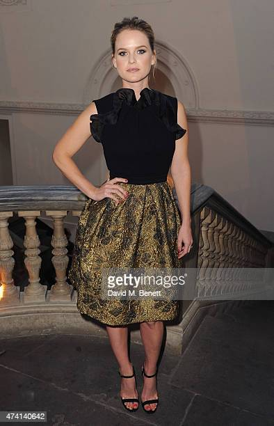 Alice Eve attends a private dinner to celebrate the opening of the new Max Mara London Flagship store at the Royal Academy of Arts on May 20 2015 in...