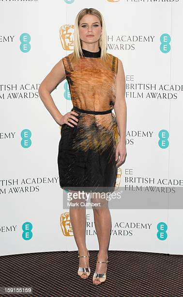 Alice Eve attends as the nominations for the EE British Academy Film Awards are announced on January 9 2013 in London England
