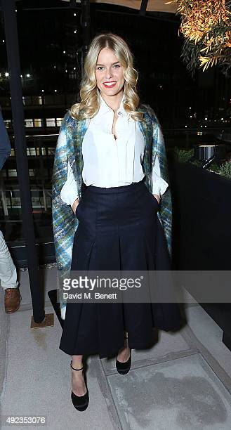 Alice Eve attends launch event to unveil the first pieces of art at Embassy Gardens by EcoWorld Ballymore on October 12 2015 in London England