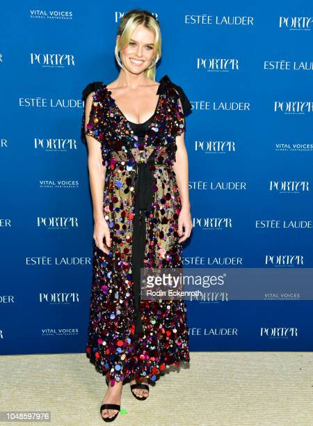 Alice Eve attends PORTER's Incredible Women Gala 2018 at Ebell of Los Angeles on October 9 2018 in Los Angeles California