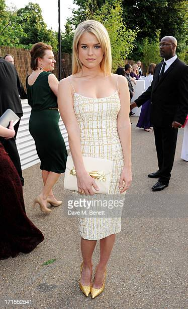Alice Eve attends the annual Serpentine Gallery Summer Party cohosted by L'Wren Scott at The Serpentine Gallery on June 26 2013 in London England