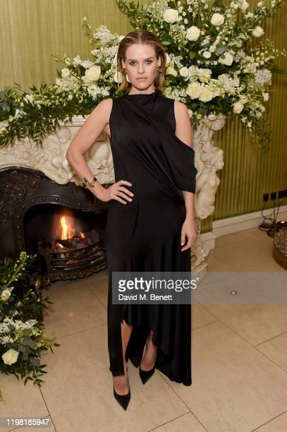 Alice Eve attends the British Vogue and Tiffany Co Fashion and Film Party at Annabel's on February 2 2020 in London England