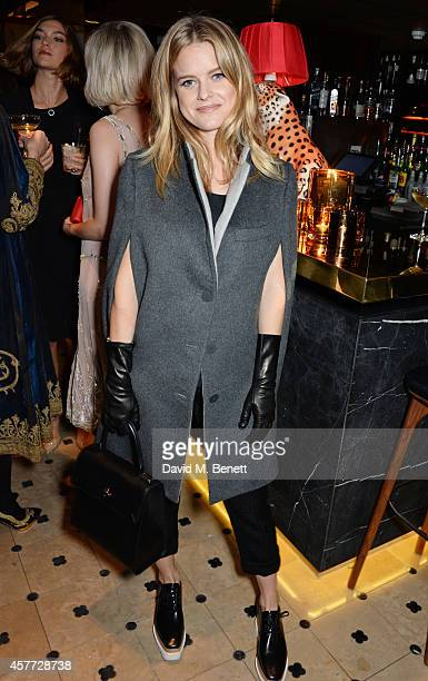 Alice Eve attends the Charlotte Olympia 'Handbags for the Leading Lady' launch dinner at Toto's Restaurant on October 23 2014 in London England
