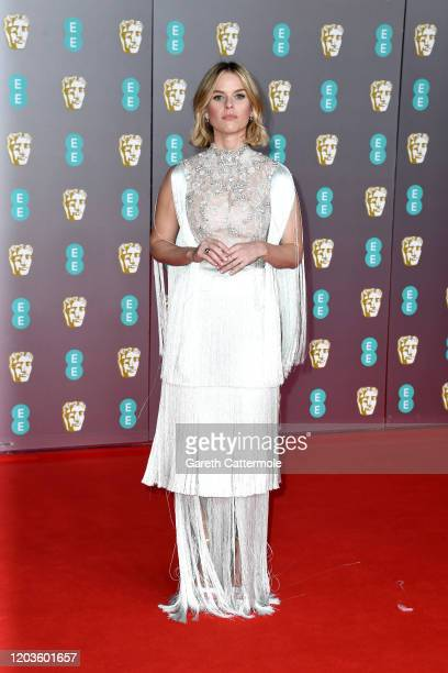 Alice Eve attends the EE British Academy Film Awards 2020 at Royal Albert Hall on February 02 2020 in London England
