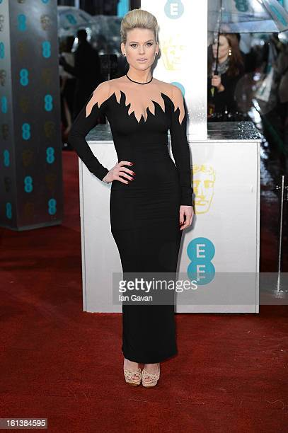 Alice Eve attends the EE British Academy Film Awards at The Royal Opera House on February 10 2013 in London England