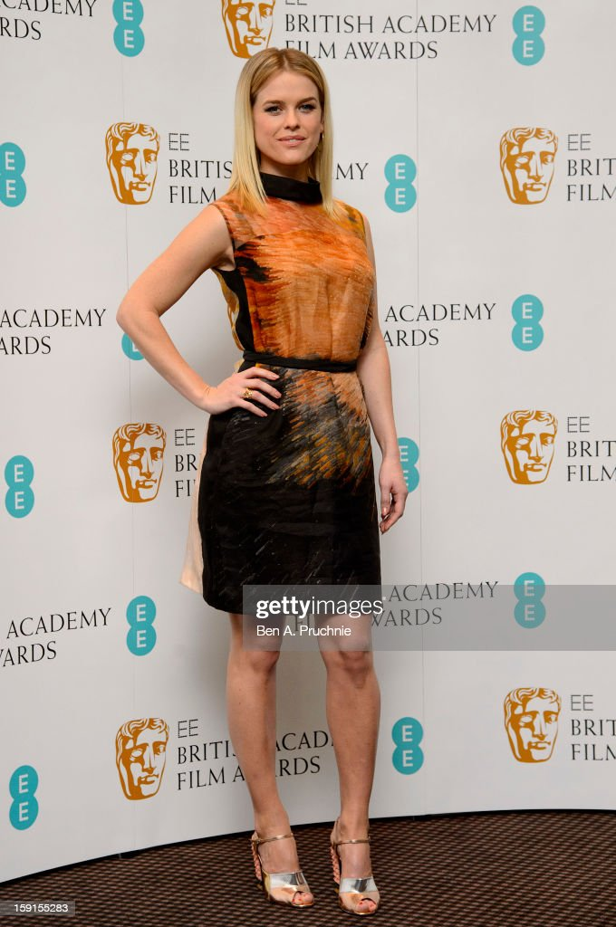 Alice Eve attends The EE British Academy Film Awards nominations announcement at BAFTA on January 9, 2013 in London, England