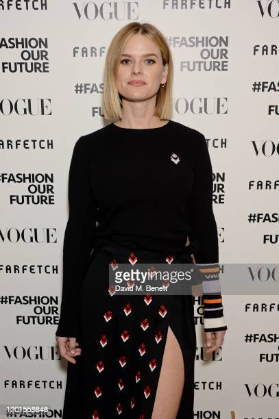 Alice Eve attends the Fashion Our Future launch event at Claridge's Hotel on February 17 2020 in London England #FASHIONOURFUTURE is a social media...