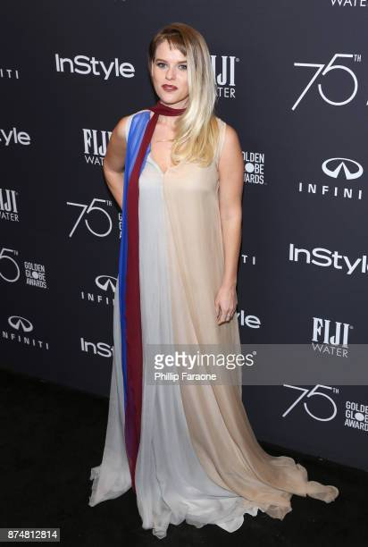 Alice Eve attends the HFPA's and InStyle's Celebration of the 2018 Golden Globe Awards Season and the Unveiling of the Golden Globe Ambassador at...