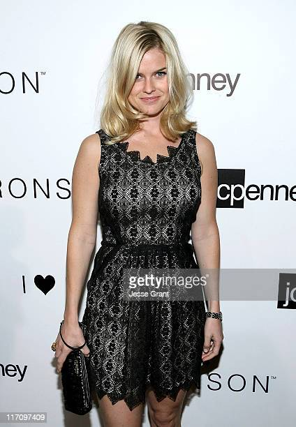 Alice Eve attends the I 'Heart' Ronson and jcpenney celebration of The I 'Heart' Ronson Collection held at the Hollywood Roosevelt Hotel on June 21...