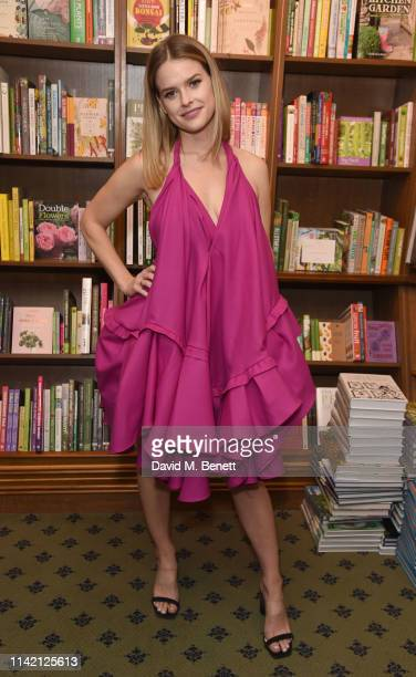 Alice Eve attends the launch of new book Lomita For Ever by Trevor Eve at Hatchards on May 7 2019 in London England