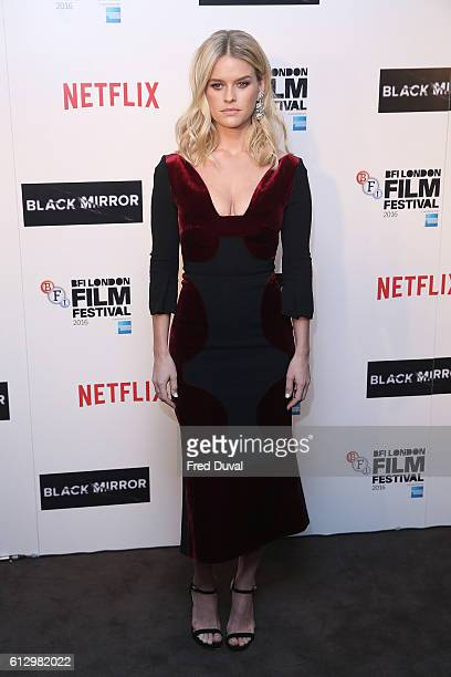 Alice Eve attends the LFF Connects Television'Black Mirror' screening at Blue Bird Cafe on October 6 2016 in London England