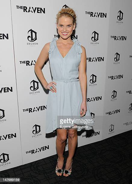 Alice Eve attends the premiere of The Raven at Landmark's Sunshine Cinema on April 16 2012 in New York City