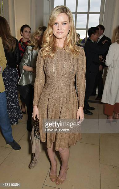 Alice Eve attends The Ralph Lauren Vogue Wimbledon Summer Cocktail Party hosted by Alexandra Shulman and Boris Becker at The Orangery at Kensington...