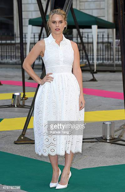 Alice Eve attends the Royal Academy of Arts Summer Exhibition at the Royal Academy on June 3 2015 in London England