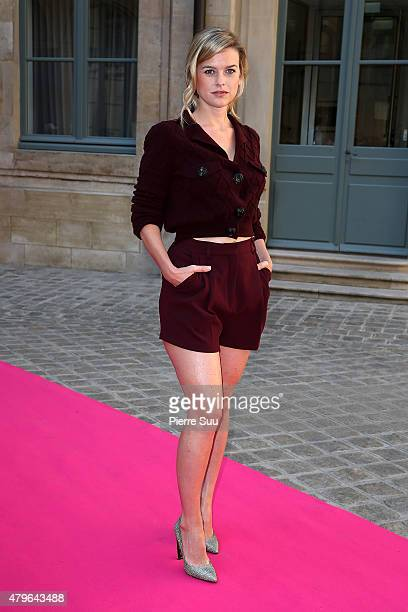 Alice Eve attends the Schiaparelli show as part of Paris Fashion Week Haute Couture Fall/Winter 2015/2016 on July 6 2015 in Paris France