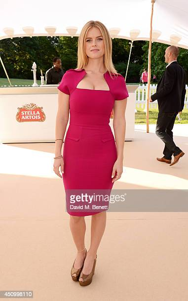 Alice Eve attends the Stella Artois Wimbledon 2014 official launch party at Cannizaro House on June 21 2014 in London England Stella Artois is the...