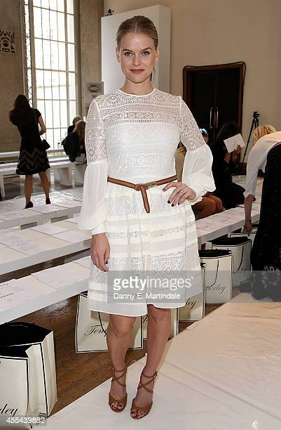 Alice Eve attends the Temperley London show during London Fashion Week Spring Summer 2015 at on September 14 2014 in London England