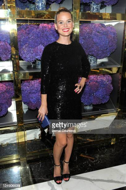 Alice Eve attends the Tory Burch Madison Avenue Flagship Opening on September 13 2011 in New York City