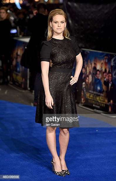 Alice Eve attends the UK Premiere of 'Night At The Museum Secret Of The Tomb' at Empire Leicester Square on December 15 2014 in London England