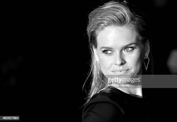 Alice Eve attends the UK Premiere of Night At The Museum Secret Of The Tomb at Empire Leicester Square on December 15 2014 in London England
