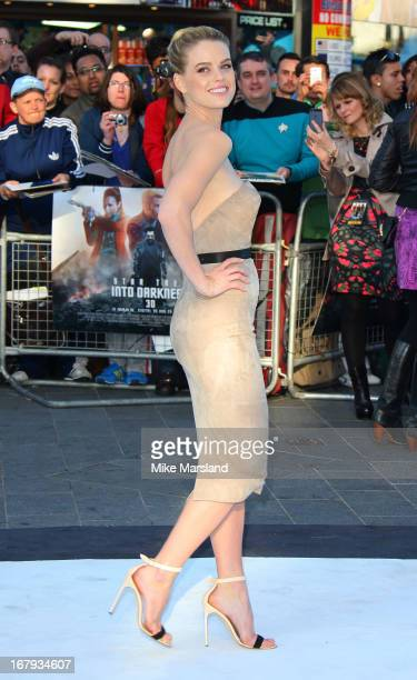 Alice Eve attends the UK Premiere of 'Star Trek Into Darkness' at The Empire Cinema on May 2 2013 in London England