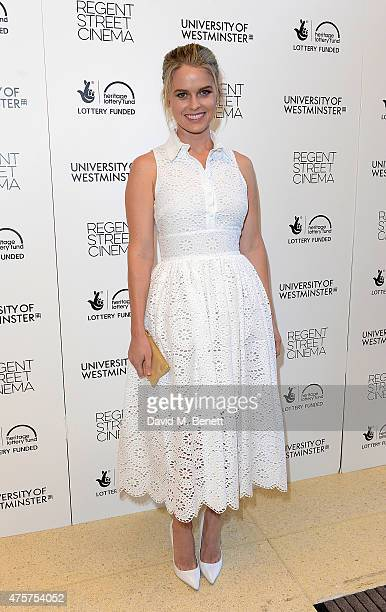 Alice Eve attends the University of Westminster's Regent Street Cinema Gala to celebrate cinema's re-opening at Regent Street Cinema on June 3, 2015...