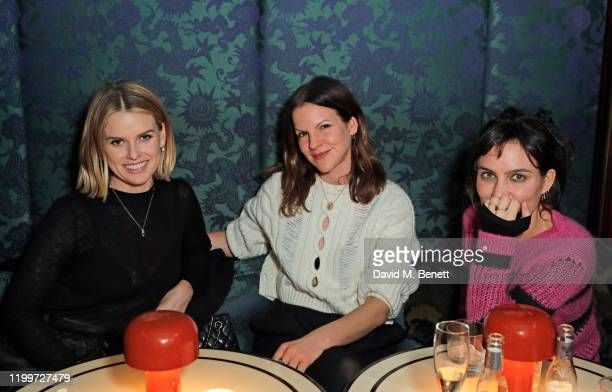 Alice Eve Fuchsia Kate Sumner and Sheherazade Goldsmith attend the Platform Presents Poetry Gala 2020 after party in the Dragon Room at Isabel...