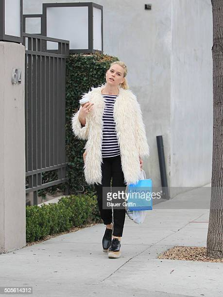 Alice Eve is seen on January 18 2016 in Los Angeles California