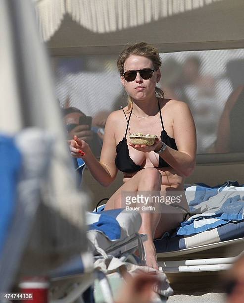 Alice Eve is seen on the beach on November 24 2012 in Miami Florida
