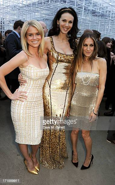 Alice Eve L'Wren Scott and Sarah Jessica Parker attend the annual Serpentine Gallery Summer Party cohosted by L'Wren Scott at The Serpentine Gallery...