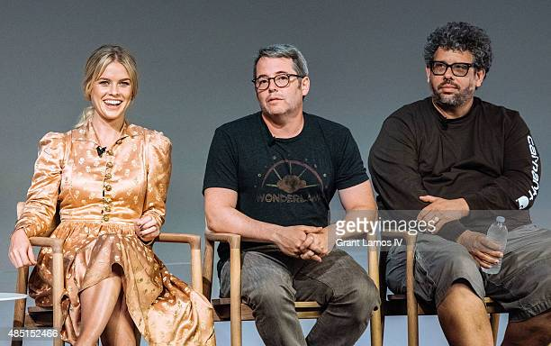 Alice Eve Matthew Broderick and Neil LaBute attend the Apple Store Soho Meet The Filmmaker Neil LaBute and Alice Eve Dirty Weekend at Apple Store...
