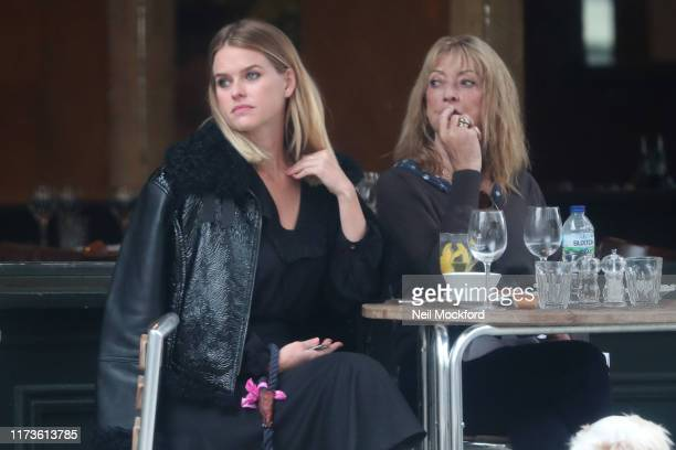 Alice Eve seen having lunch with her mum Sharon Maughan at Osteria Basilico restaurant in Notting Hill on September 10 2019 in London England