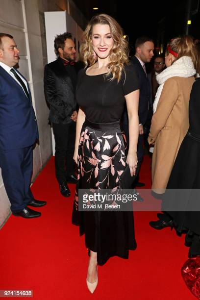 Alice Fearn attends the 18th Annual WhatsOnStage Awards at the Prince Of Wales Theatre on February 25 2018 in London England