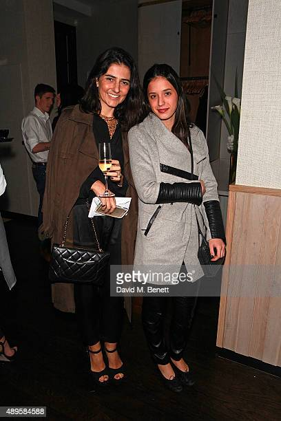 Alice Ferraz and guest attend an after party for the exclusive viewing of 'McQueen' hosted by Karim Al Fayed for Lonely Rock Investments during...
