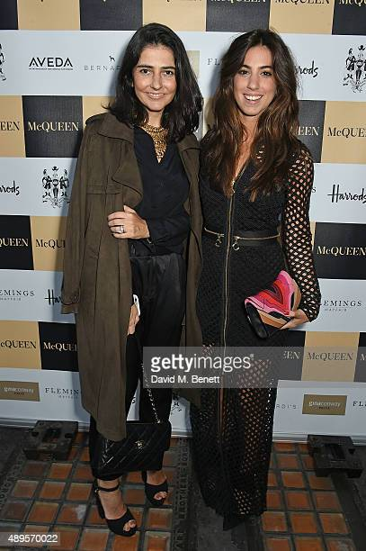 Alice Ferraz and Luisa Sobral attend the exclusive viewing of 'McQueen' hosted by Karim Al Fayed for Lonely Rock Investments during London Fashion...