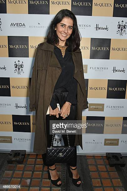 Alice Ferraz attends the exclusive viewing of 'McQueen' hosted by Karim Al Fayed for Lonely Rock Investments during London Fashion Week at Theatre...