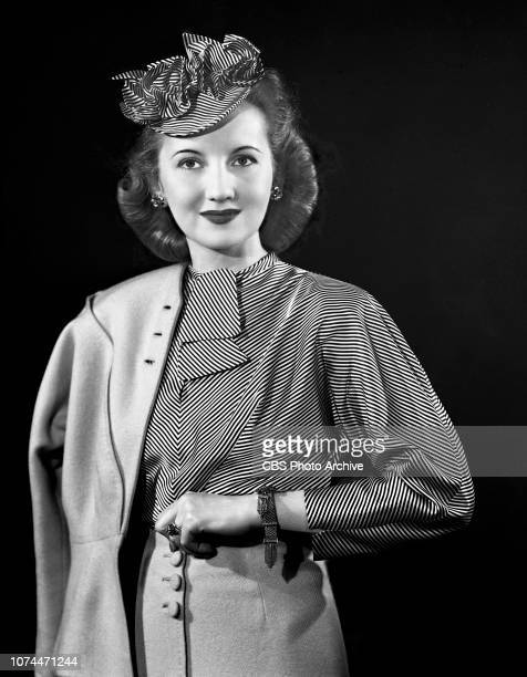 Alice Frost models a fashion suit She stars as Ruth Evans on the CBS Radio soap opera Big Sister April 7 1944 New York NY